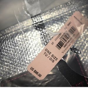 Victoria's Secret Bags - Victoria's Secret Silver & Black Tote Bag